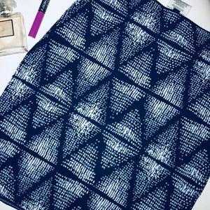 BCBG MaxAzria 💙 blue patterned bandage skirt